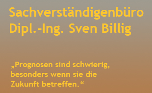 Billig, Sven, Dipl.-Ing. - Zertifizierter Sachverständiger