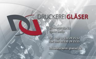 Logo von Druckerei Gläser
