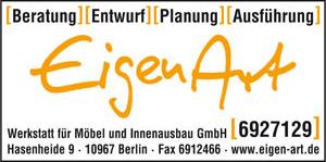 Bild 1 EigenArt Werkstatt für Möbel und Innenausbau GmbH in Berlin