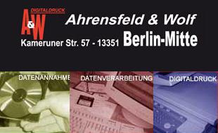 Ahrensfeld & Wolf GbR