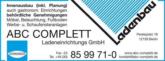 Bild 1 ABC Complett Ladeneinrichtungs GmbH in Berlin
