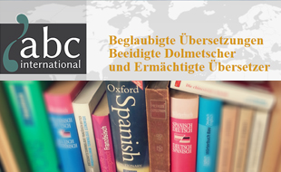 Logo von abc international - Übersetzungsbüro