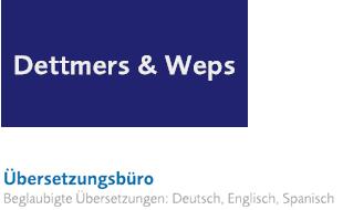 Dettmers & Weps - Übersetzungsbüro