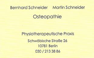 Schneider, Bernhard und Schneider, Martin