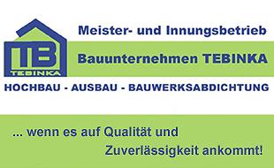 Logo von Bauunternehmen TEBINKA Hochbau - Ausbau - Bauwerksabdichtung