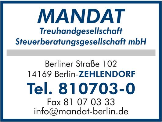 Mandat Treuhandgesellschaft Steuerberatungsgesellschaft mbH