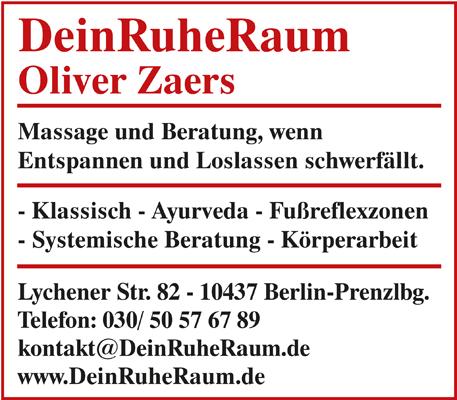 DeinRuheRaum, Inh. Oliver Zaers - Naturheilpraxis