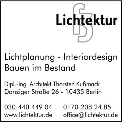 Lichtektur - Dipl.-Ing. Architekt Thorsten Kußmack