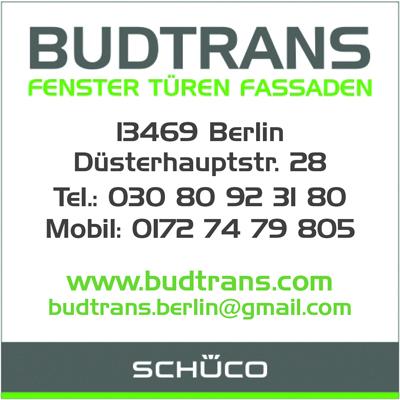 BUDTRANS GmbH - Fenster Türen Fassaden