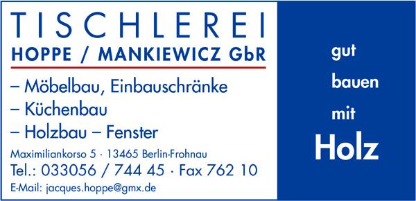 Hoppe/Mankiewicz GbR - Tischlerei
