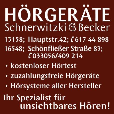 HÖRGERÄTE Schnerwitzki & Becker