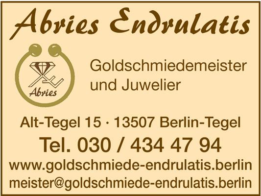 Endrulatis, Abries Goldschmiedemeister und Sachverständiger