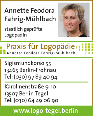 Fahrig-Mühlbach, Annette Feodora - Praxis für Logopädie