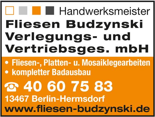 Fliesen Budzynski Verlegungs- und Vertriebsges. mbH