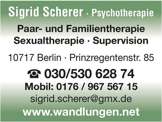 Scherer, Sigrid - Psychotherapie