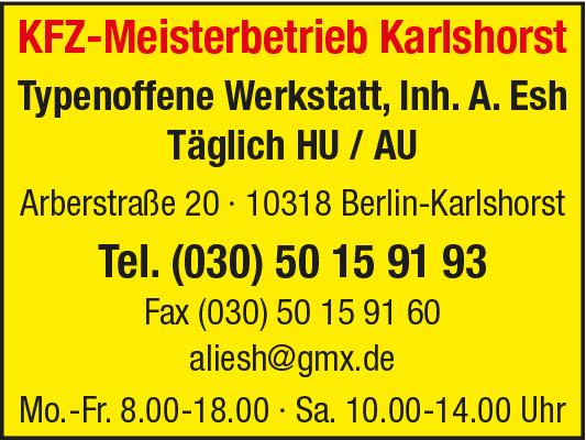 Kfz-Meisterbetrieb Karlshorst