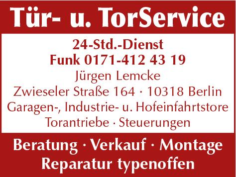 Tür u. Tor Service Jürgen Lemcke