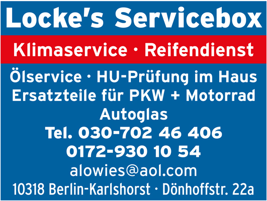 Locke's Servicebox - Autowerkstatt