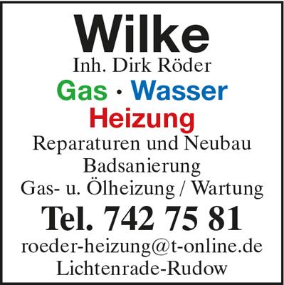 Wilke, Jürgen Inh. Dirk Röder Gas Wasser Heizung