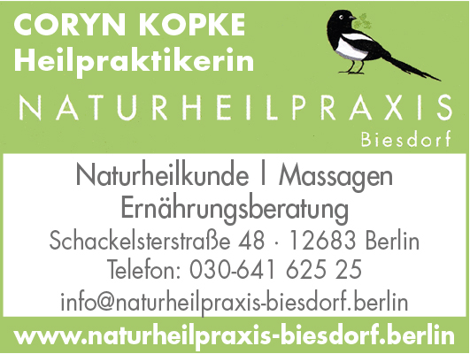 Kopke, Coryn - Naturheilpraxis Biesdorf