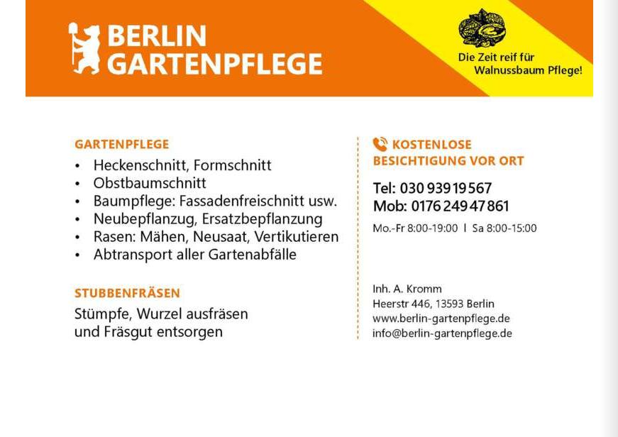 Berlin-Gartenpflege