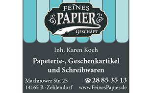 Feines Papiergeschäft