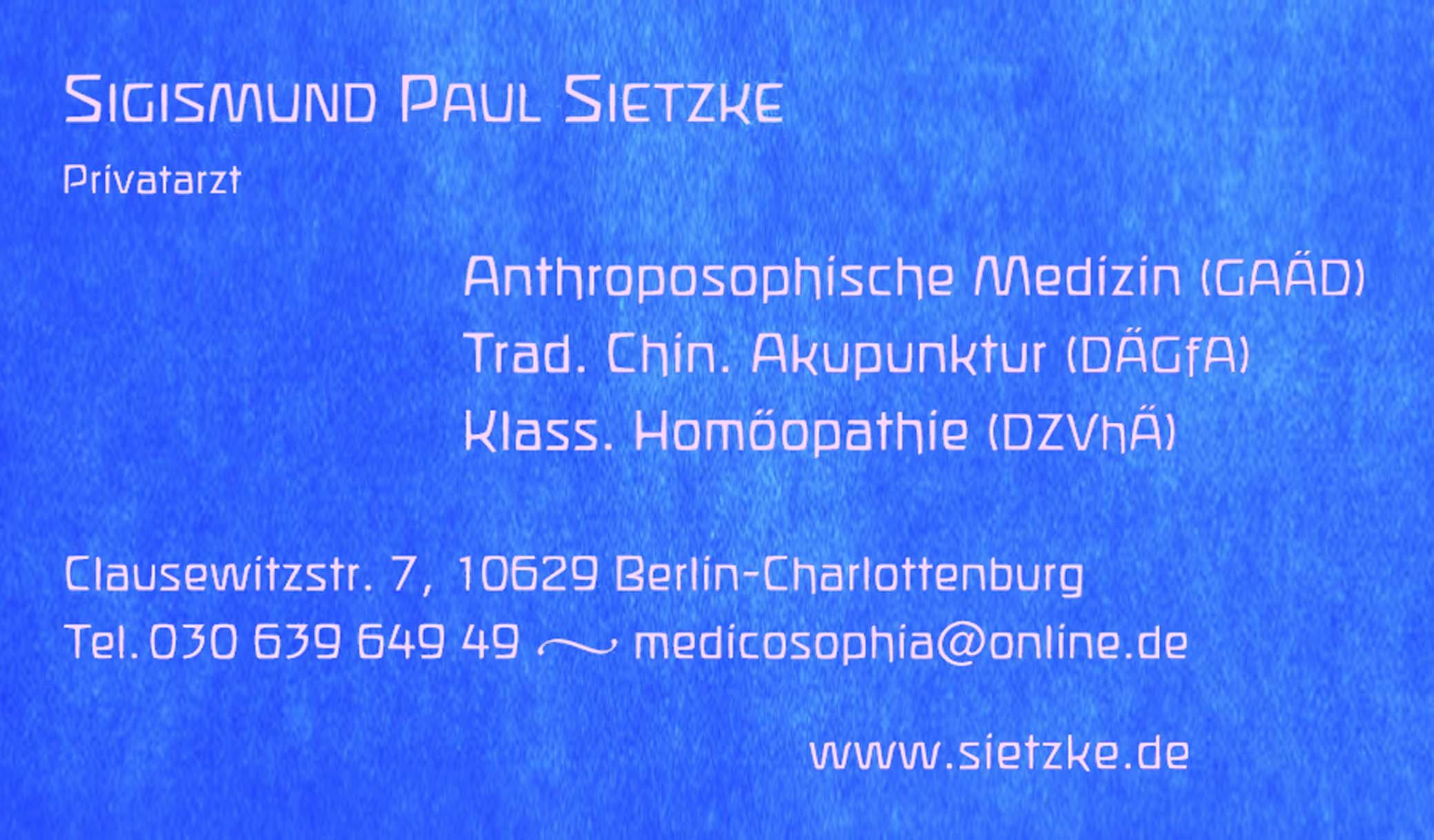 Privatpraxis Sigismund Paul Sietzke
