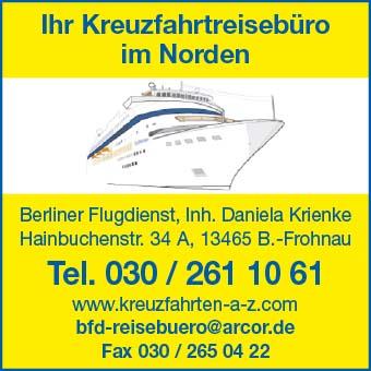 Berliner Flugdienst, Inh. Daniela Krienke