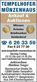 Tempelhofer Münzenhaus, Matthias Senger