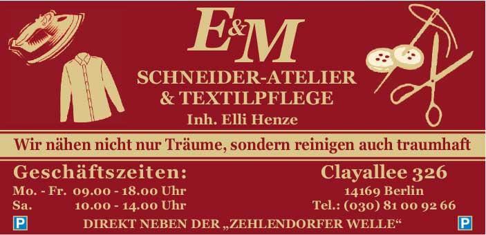 E & M Schneider-Atelier & Textilpflege