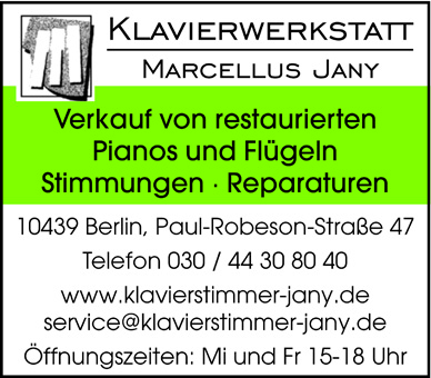 Jany Marcellus, Klavierwerkstatt