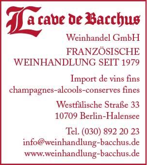 La cave de Bacchus Weinhandel GmbH