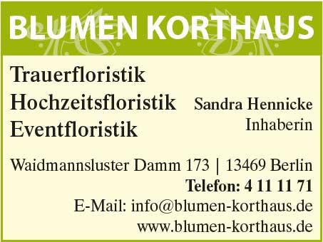 Blumen-Korthaus, Inh. Sandra Hennicke