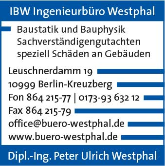 Logo von IBW Ingenieurbüro Dipl.Ing. Peter Ulrich Westphal