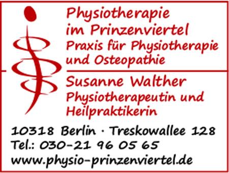 Physiotherapie im Prinzenviertel, Susanne Walther