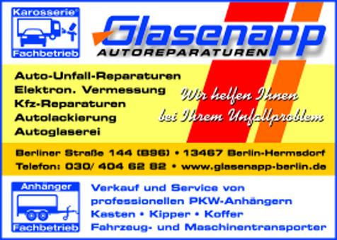 Glasenapp Autoreparaturen und Pkw-Anhänger