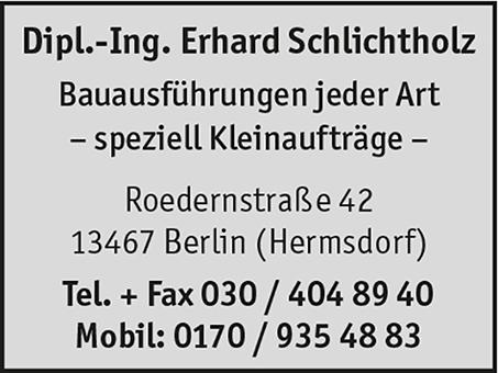 Schlichtholz, Erhard, Dipl.-Ing.