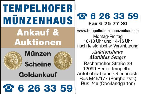 Tempelhofer Münzenhaus - Matthias Senger