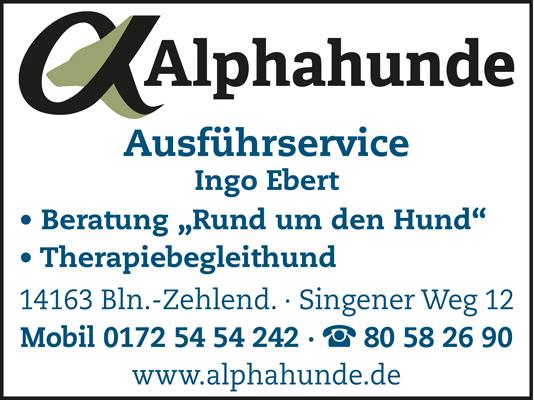 Logo von Alphahunde, Ingo Ebert