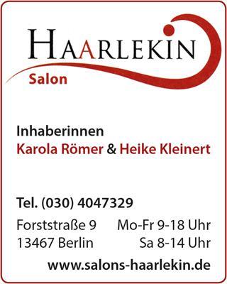 Logo von Salon Haarlekin, Inh. Karola Römer & Heike Kleinert