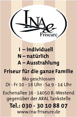 Logo von Ina & Friseure, Ina Jennrich-Goepel