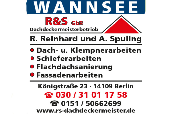 R & S GbR Dachdeckermeisterbetrieb R. Reinhard und A. Spuling