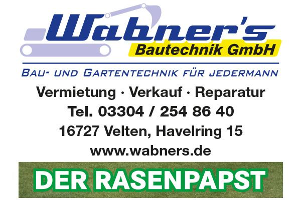 Wabner's Bautechnik GmbH - Bau-, Garten- und Forsttechnik