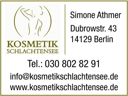 Athmer, Simone - Kosmetik Schlachtensee