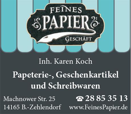 Logo von Feines Papiergeschäft