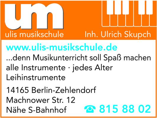 Logo von Ulis Musikschule Inh. Ulrich Skupch