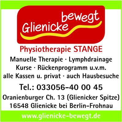 Glienicke bewegt Physiotherapie Inh. Ursula Stange