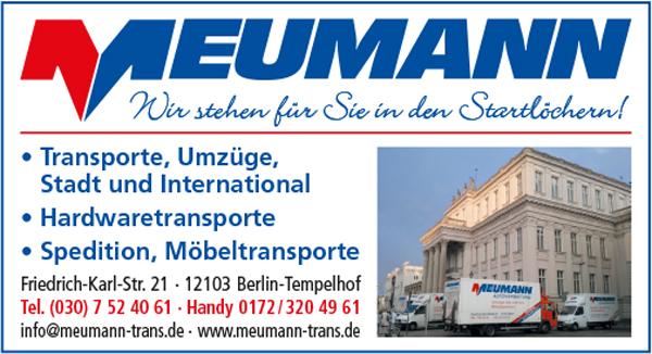 Meumann 12103 Berlin Tempelhof Adresse Telefon Kontakt